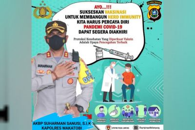 Polres Wakatobi Gelar Vaksinasi Serentak Untuk Seluruh Indonesia